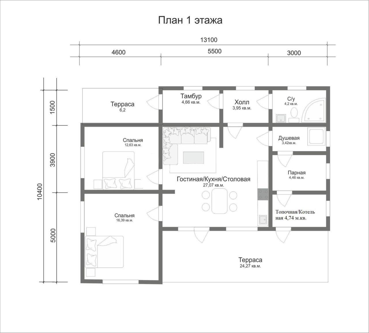 """Проект дома """"Сарния"""" - фото 3"""