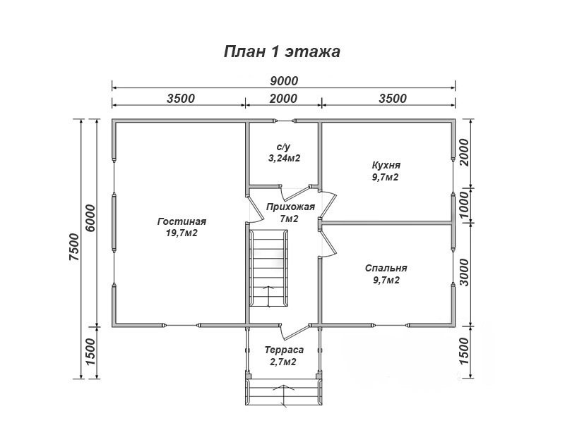 """Проект дома """"Вуокса"""" - фото 4"""
